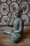 bronze casture of the buddha with Abhaya Hand Gestures (without fear)